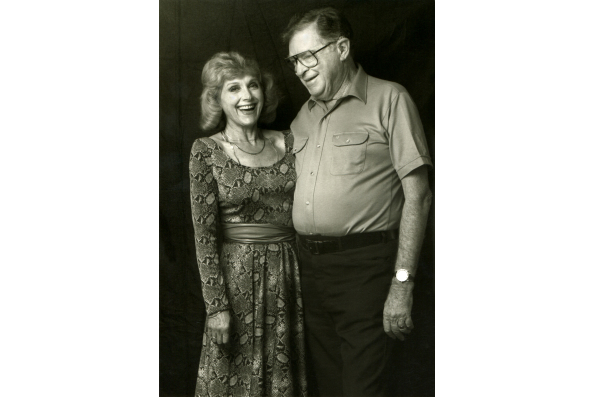 Lillian and Harold Michelson in New York City in 1984 in Daniel Raim's HAROLD AND LILLIAN: A HOLLYWOOD LOVE STORY. A Zeitgeist Films release. Photo: Adama Films / Zeitgeist Films. For hi-res version click on photo then click on Download link.