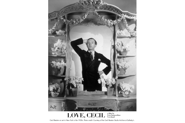 Cecil Beaton on set in New York in the 1930s. Courtesy of the Cecil Beaton Studio Archive at Sotheby's.