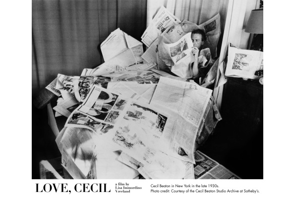 Cecil Beaton in New York in the late 1930s. Courtesy of the Cecil Beaton Studio Archive at Sotheby's.